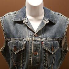 Vintage Woman Jack Levi Blue Jean BIG E Vest Redtab Motorcycle Punk Rocker