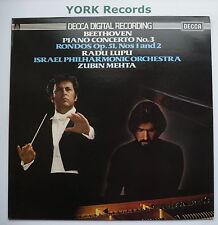 SXDL 7507 - BEETHOVEN - Piano Concerto No 3 LUPU / MEHTA - Ex Con LP Record