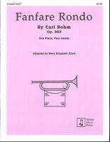 Fanfare Rondo Op. 303 Piano Duet Sheet Music Four Hands Carl Bohm Myklas