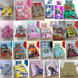 KIDS BEDDING SETS DISNEY TV CHARACTER CARTOON CHILDRENS DUVET COVERS PILLOWCASES