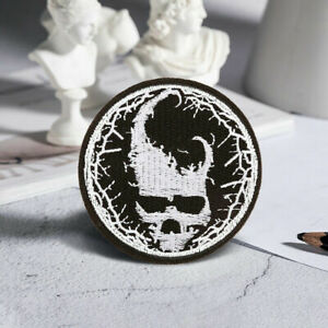 Skull Devil Embroidered Sew On Iron On Patch Badge Fabric Craft Transfer Clothes