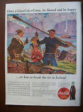 1943 Vintage Coke Coca Cola Soda Magazine Ad How To Make Friends in Ireland