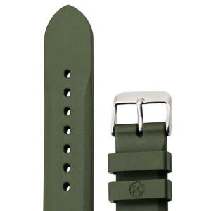 Marathon 20mm 2 piece green Rubber Dive Strap Made in Italy: New w 2 spring bars