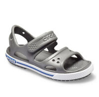 Crocs CROCBAND Sandal Kids Junior Touch Fastening Sandals Grey Size 3