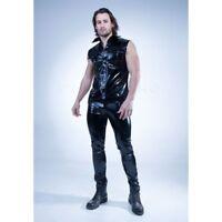 Patrice Catanzaro - Paco - Chemise sexy homme sans manches en vinyle noir