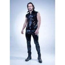 Patrice Catanzaro, Paco, Chemise sexy homme sans manches en vinyle noir
