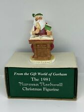 Norman Rockwell Yuletide Reckoning Santa Christmas Figurine Gorham