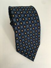 """E. MARINELLA NAPOLI Navy Blue Mens Silk Tie Floral Pattern Made in Italy 60"""""""