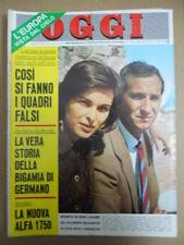 OGGI n°4 1968 Alfa 1750 Dalida Speciale Raffaella Carrà Mina Rita Pavone [C54A]