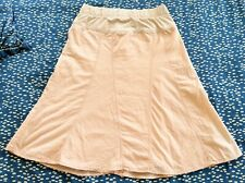 Gap Maternity Light Pink Easter A-Line Flare Skirt Demi Panel Size 2 Small EUC