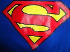 Blue Superman Logo T Shirt M Free US Shipping