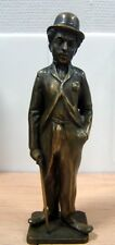 FAMOUS BRITISH COMIC ACTOR - CHARLIE CHAPLIN -OLD BRONZE STATUE High=25cm