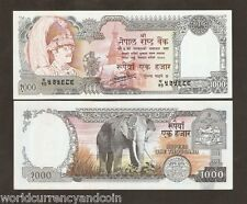 NEPAL 1000 RUPEES P36B 1981 ELEPHANT KING UNC CURRENCY MONEY BILL SAARC BANKNOTE