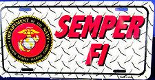 License Plate U.S. Marines Semper FI New aluminum Auto tag sublimation 0129