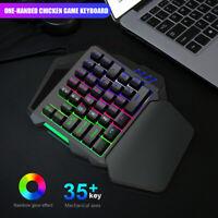 K15 One-handed Membrane Gamer 35 Keys Keyboard Backlit Single Hand Gaming Keypad