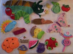 FELT BOARD/FLANNEL STORY RHYME TEACHER RESOURCE - THE VERY HUNGRY CATERPILLAR