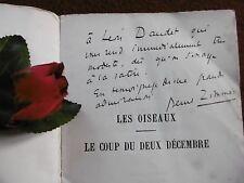 BERNARD ZIMMER : LES OISEAUX  ( EDITION ORIGINALE ) 1928