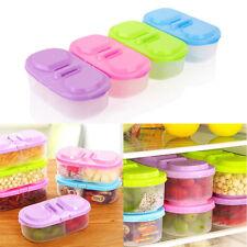 Plastique Déjeuner Boîtes Stockage Rangement Couvercle Alimentaire Container NF