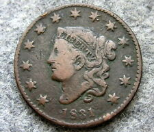 UNITED STATES 1831 ONE CENT, CORONET HEAD