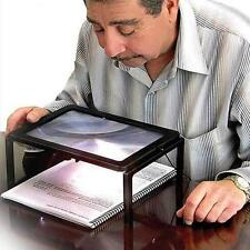 Full Page Reading Sewing Magnifier Hands Free Magnifying Glass 3X With LED Light