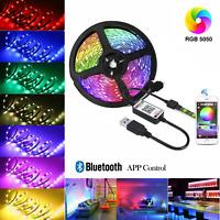 1-5m RGB USB LED Streifen TV Hintergrundbeleuchtung Leiste Fernseher Licht-Band