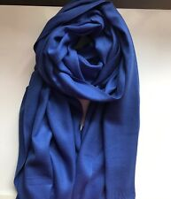Lady Plain Fringed Cashmere Scarf Shawl Wrap
