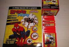 ALBUM + BOX 50 BUSTINE SPIDER POWER SPIDERMAN  SIGILLATO PANINI FIGURINE SEALED
