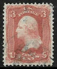 Sc #94 Grill Margins 3 Cent Washington 1867-68 US 87B12