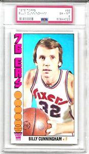 1976 - 77 Topps BILLY CUNNINGHAM # 93 PSA 6 EX - MT HOF Philadelphia  76ers