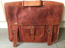Classic Handmade Leather Messenger breifcase /Business/ Office /Laptop Bag