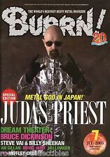 Burrn! Heavy Metal Magazine July 2005 Japan Judas Priest Dream Theater Helloween