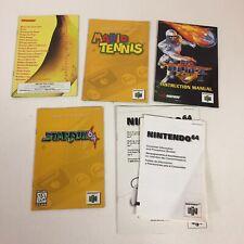 Lot 5 Nintendo 64 Instruction Manuals Console Donkey Kong Mario StarFox NFL