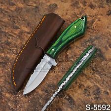 5592 | Black Buck's Handmade High Carbon Steel FULLTANG Skinner Knife | W/Sheath