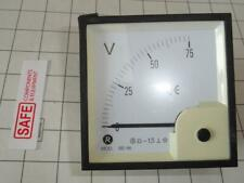 Risesun DC Volt Meter 90* Scale 75V Analog BE-96 Panel 96mm DC Coil MM-564