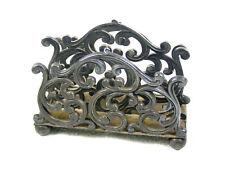 "Antique Victorian Silverplate ""Scrolls"" Letter Holder"