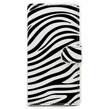 Zebra Flip PU Leather ID Card Wallet Magnetic Cover Case For Apple iPhone 4 4S