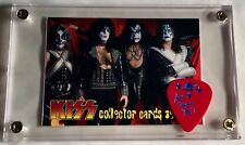Rare KISS Cornerstone Series 2 promo card #P3/ Ace last tour guitar pick display