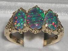 Damen Ring solide 375 Gelbgold, Opal