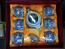 Chinese Flower Tea Sets - Tea Pot & 6 Cups
