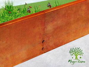 Rasenkante 3mm Mähkante Corten Stahl Edelrost Beeteinfassung Metall Bordsteine M