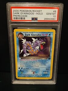 Pokemon Card PSA 10 Dark Gyarados Prerelease Team Rocket Set Gem Mint
