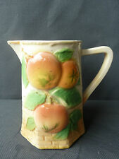 Ancien pichet barbotine décor de fruit art populaire french antique