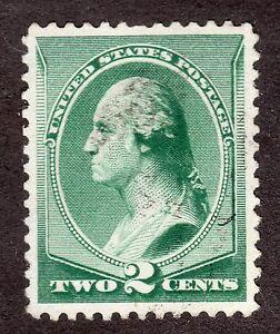US # 213 (1887) 2c - Grade: XF - Lite Canc - 'George Washington'