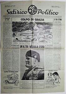Giornale Satirico e Politico 6 e 22-Direttore Vittorio Bufi 2 numeri 1949-1950
