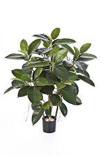 Künstlicher Gummibaum mit 135 Blättern, 4-stämmig, 90 cm - künstliche Bäume