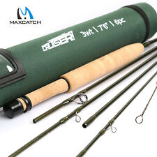 Maxcatch Cruiser Travel Fly Fishing Rod 2/3/4wt 7'6'' 7' 8' 6pcs Fast action