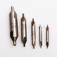 5Pcs HSS Combined Center Drills Countersinks 60 Degree Angle 60°Bit Set Tool