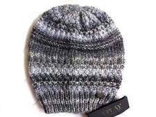 Genuine REPLAY Womens Wool Knitted DARK GREY Mottled Beanie Hat Toque NEW Femme