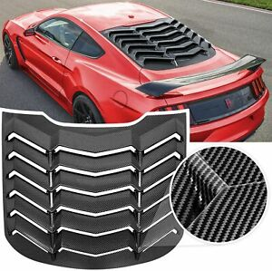 Rear Window Louver Visor Sun Shade Cover for Ford Mustang 2015-2020 Carbon Fiber