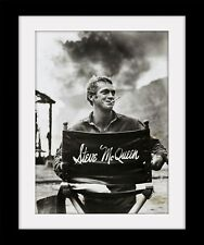 STEVE McQUEEN Cool Vintage style Print Mounted or Framed FREE POSTAGE ref271